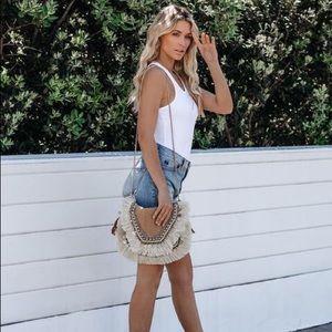 Tops - White women's tops soft knit racerback